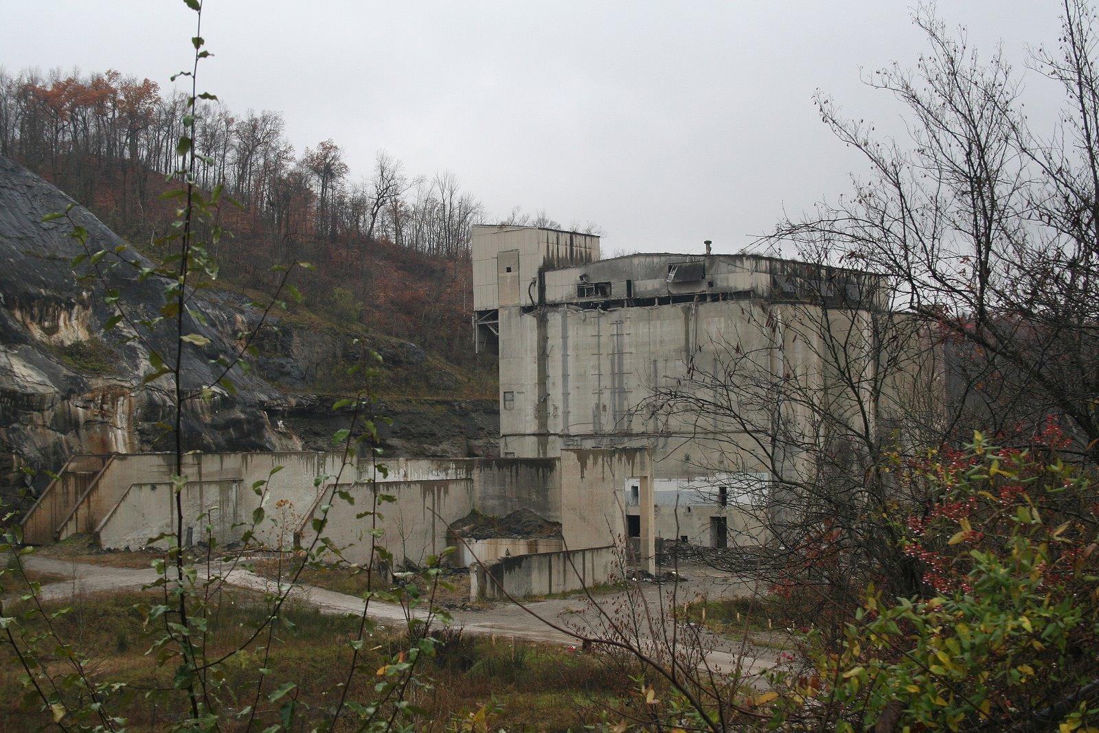 Abandoned Cement Plant : Abandoned cement plant in superior oh